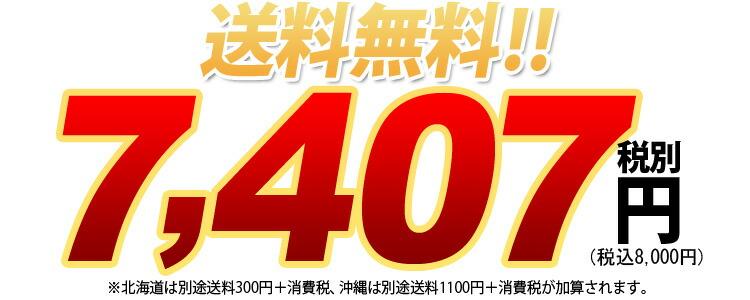 送料無料7407円税別、税込8000円※北海道は別途送料800円+消費税、沖縄は別途送料1200円+消費税が加算されます