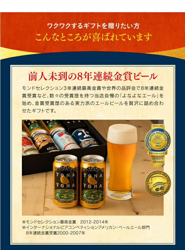 8年連続金賞ビール