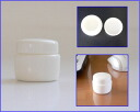Cream containers white jujube 10 caps with 10P11May09
