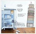 "Large-format wall sticker ""the tower of pisa"" 10P01Mar15"