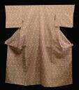 Thick, Silk weaving kimono (D) firmly with Kasuri pongee