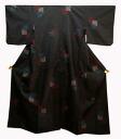 Pure silk tailoring of Oshima-tsumugi NO32 grip stuff! Genuine Oshima tsumugi free 5 Marquis ikat black 3 squares pattern in Navy blue / red / white