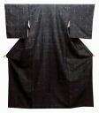 M. Silk weaving kimono ( F) iron to the turtle in floral style kimono rose