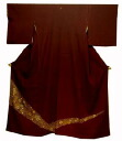 Pure silk fabrics colored formal kimono kimono (in the G) newly made kimono tea adzuki bean place 裂取七宝紋様)