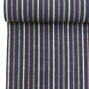 Enshu cotton pongee Enshu striped cotton kimono ( Navy mix series )(No.113 )