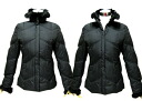 Super bargain sale 60% off FOX fur with batting short-length down coat black M, L, LL