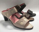 Black mules heels enamel Combi leather yuriko matsumoto