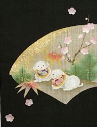 迎春・桜タペストリー