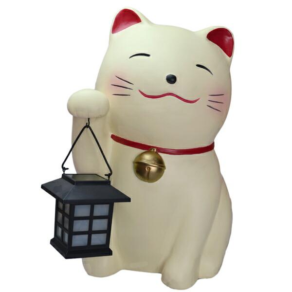 园艺 庭园家具 照明 商品详细信息    祝你好运招手猫咪可爱的庭院灯.