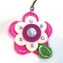 ★ホビックスレザー-like flower strap pink /FE-11