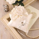 ◎ kiritappu Juno (Juno) bouquet lace and Ribbon pillow /H431-146 [wedding / ring pillow / marriage / ring / accessories / handmade Kit]