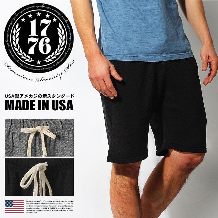 1776 フレンチ テリー ショーツ ショートパンツ ハーフパンツ SS873 メンズ  送料無料! 【返品送料無料対象品】