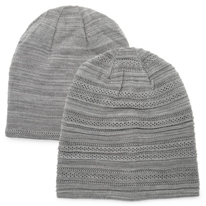 针织帽男帽子秋冬妇女冬季卡蒙 ダイナホット 水印大小: 可逆温暖针织