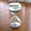 Hourglass five minutes | Glass | Interior | of beautiful sand Sand glass -5 (white)