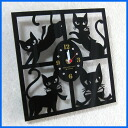 Cat | Clock | Wall hangings | Wall clock | Antique | Four angles of モンプチシャ clocks type