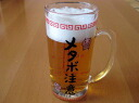 People who love beer cylinder in mainly white glass! You can check calories! メタボビア mug