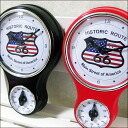 Clock-wall-clock-antique-American gadgets-with a kitchen timer clock route 66