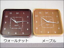 Wall clock--wall clock interior-wall clock pun | wood-wood-wood-Alegria wall clock square (L)