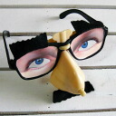 Disguise disguise goods | Costume play | Interesting miscellaneous goods | Unique | Tricky glasses (an eyeball and mustache)