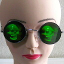 Disguise disguise goods | Costume play | Interesting miscellaneous goods | Unique | Hologram glasses (skeleton)