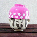 Disney rice bowl set-rice bowl-Cup-Bowl-soup-bowl set _ Minnie mouse (Pink)