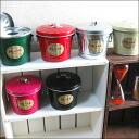 Small bucket with a lid ashtray / glass-ashtray HiHi