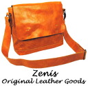 Zenis (Zenith) oil leather shoulder bag A-0104fs04gm