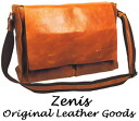 Zenis (Zenith) oil leather Messenger bag / shoulder bag L size A-0105