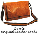 Zenis ( Zenith ) oil leather Messenger bag / shoulder bag M size A-0106