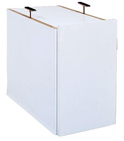 オープンロッカーシリーズ スリム収納 上置き ハイタイプ 送料無料 収納ラック ロッカー 棚 ホワイト