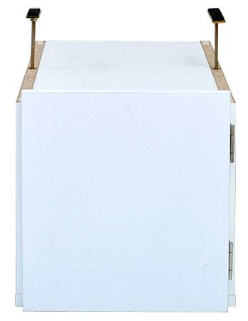 オープンロッカーシリーズ スリム収納 上置き ロータイプ 送料無料 収納ラック ロッカー 棚 ホワイト