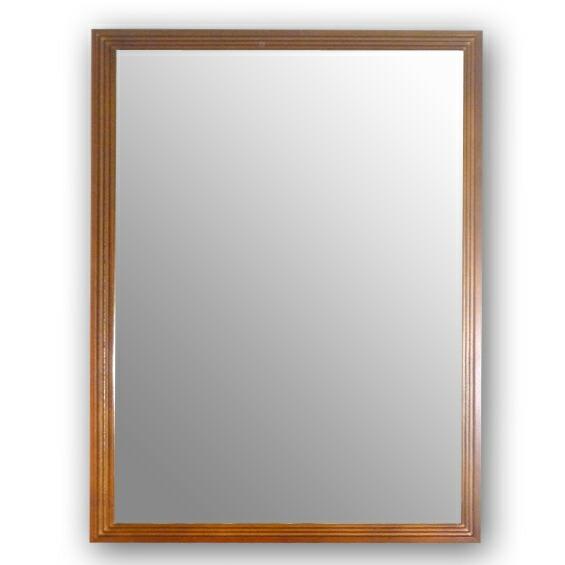 ビッグ フレーム ウォール ミラー 三段カット 鏡 壁掛け鏡 送料無料 代引手数料無料 ブラウン