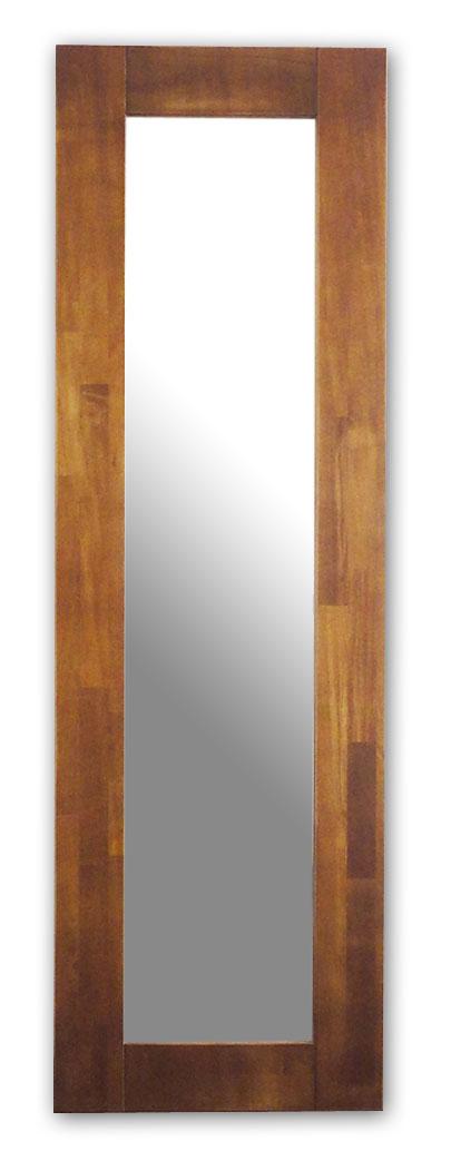 極太フレームミラー,ブラウン[送料無料,幅広フレーム,ミラー,45×150cm,鏡,立て掛け鏡]