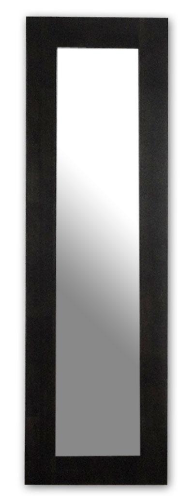 極太フレームミラー,ダークブラウン[送料無料,幅広フレーム,ミラー,45×150cm,鏡,立て掛け鏡]