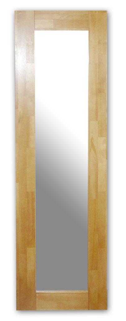 極太フレームミラー,ナチュラル[送料無料,幅広フレーム,ミラー,45×150cm,鏡,立て掛け鏡]
