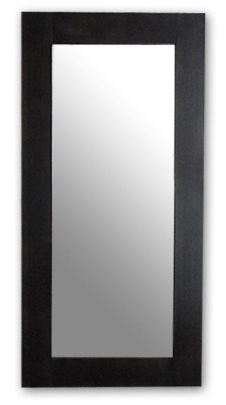 極太フレームミラー,ダークブラウン[送料無料,幅広フレーム,ミラー,60×120cm,鏡,立て掛け鏡]