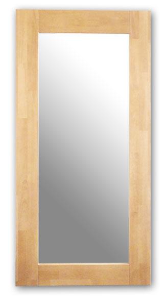 極太フレームミラー,ナチュラル[送料無料,幅広フレーム,ミラー,60×120cm,鏡,立て掛け鏡]