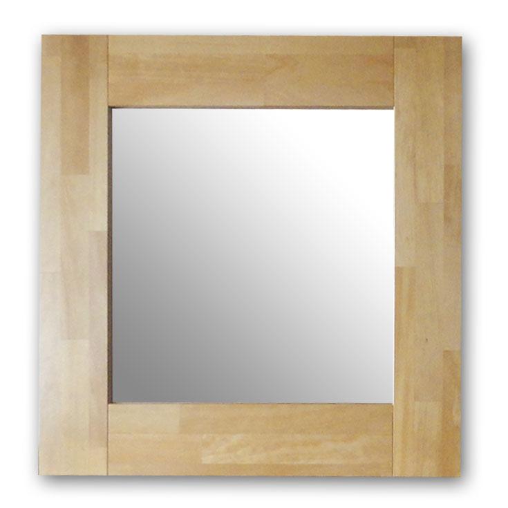 極太フレームミラー,ナチュラル[送料無料,幅広フレーム,ミラー,60×60cm,鏡,立て掛け鏡]