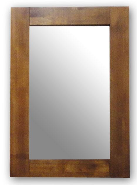 極太フレームミラー,ブラウン[送料無料,幅広フレーム,ミラー,60×90cm,鏡,立て掛け鏡]