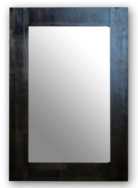 極太フレームミラー,ダークブラウン[送料無料,幅広フレーム,ミラー,60×90cm,鏡,立て掛け鏡]