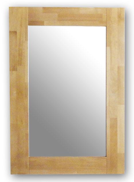 極太フレームミラー,ナチュラル[送料無料,幅広フレーム,ミラー,60×90cm,鏡,立て掛け鏡]
