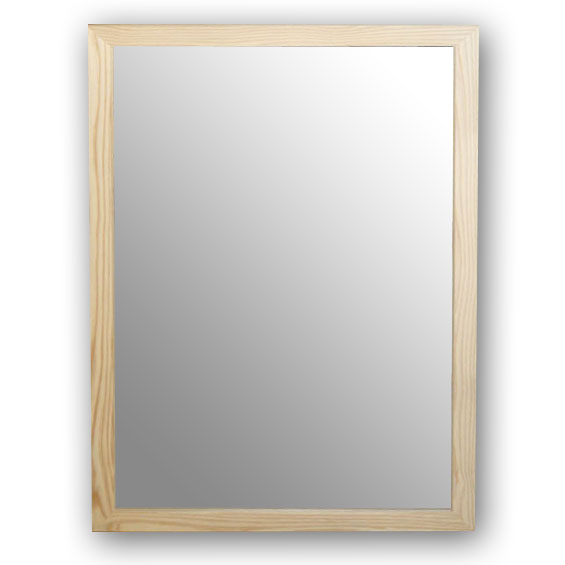 杉フレーム ウォールミラー[杉フレーム,杉,国産,ミラー,無塗装,60×90cm,鏡]