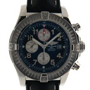 Brightman ring BREITLING スーパーアベンジャー A13370 blue 48,4mm self-winding watch chronograph USED is used