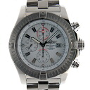 Brightman ring BREITLING スーパーアベンジャー A13370 white 48mm self-winding watch chronograph USED is used