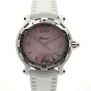 300 8507 ショパール CHOPARD happy sports ceramic pink shell 38mm Japan-limited USED