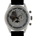Zenith ZENITH Kurono master opening moon phase 03.2160.4047/01.C713 SS 45mm silver leather USED