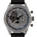 Zenith ZENITH Chrono master open Moon 03.2160.4047/01.C713 SS 45 mm silver leather USED