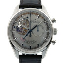Zenith ZENITH Chrono master open power reserve 03.2080.4021/01.C494 SS silver leather D buckle USED