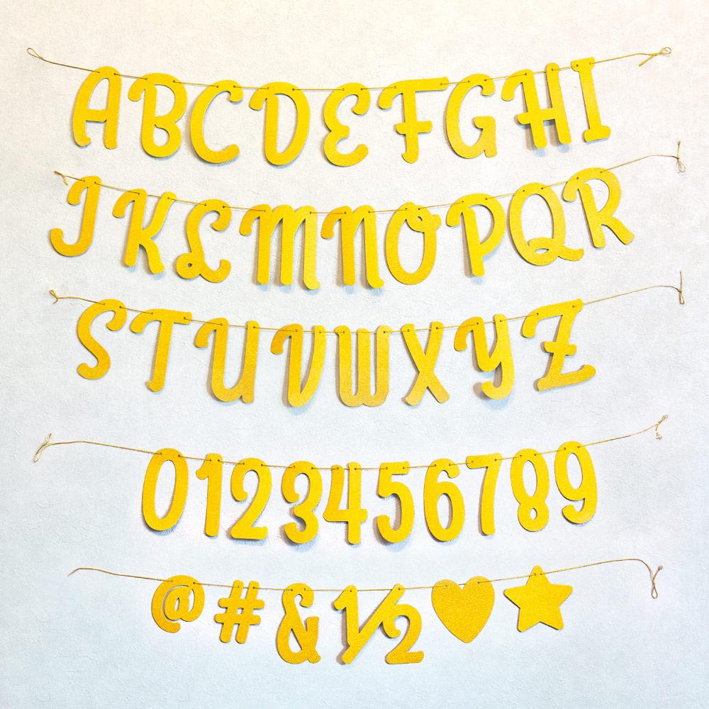 アルファベットレターバナーセット
