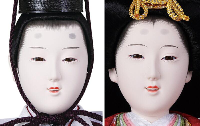 雅泉作 雛爛漫 金襴  京九番 六寸 駿河塗 和風刺繍マリ台屏風